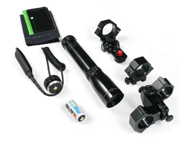 Комплект тактический, подствольный лазерный фонарь ночного видения BSA ND-3 laser genetics (зеленый лазер)