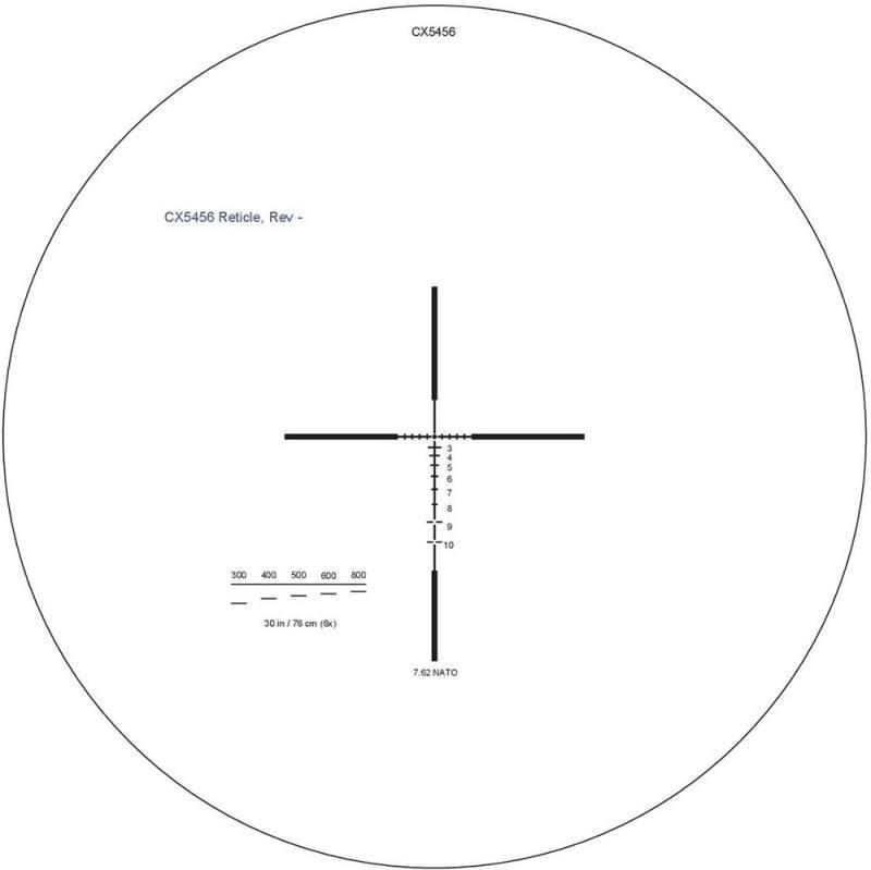 Оптический прицел Elcan Specter DR 1.5x-6x 7.62 сетка CX5455/CX5456 с подсветкой DFOV156C2