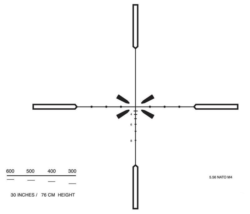 Оптический прицел Elcan Specter OS 3x A2 сетка ATOS3.0A/ATOS3.0B с подсветкой ATOS30A2
