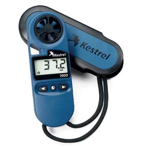 Ветромер Kestrel 1000 (водонепроницаемый, скорость ветра... максимальную и среднюю)  0810