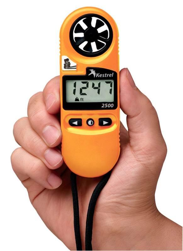 Ветромер Kestrel 2500 (время, скорость ветра, температура воздуха, воды, снега, барометрическое давление, высота над уровнем моря)