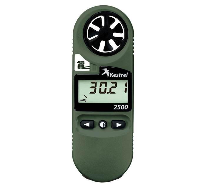 Ветромер Kestrel 2500 NV (время, скорость ветра, температура воздуха, воды, снега, барометрическое давление, высота над уровнем моря)