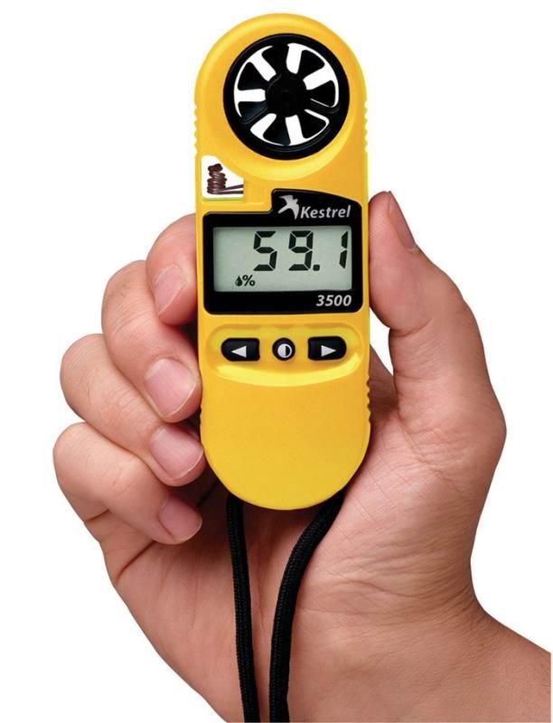 Ветромер Kestrel 3500 (время, скорость ветра, температура воздуха, воды, снега, влажность, точка росы)