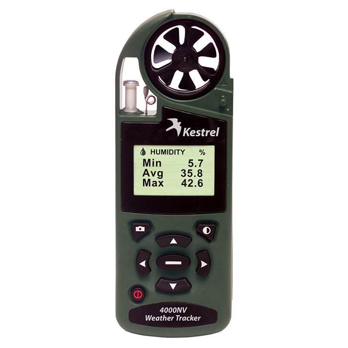 Ветромер Kestrel 4000 NV Olive (время, скорость ветра, температура воздуха, воды, снега, влажность, точка росы, индекс жары) 0840NVOLV