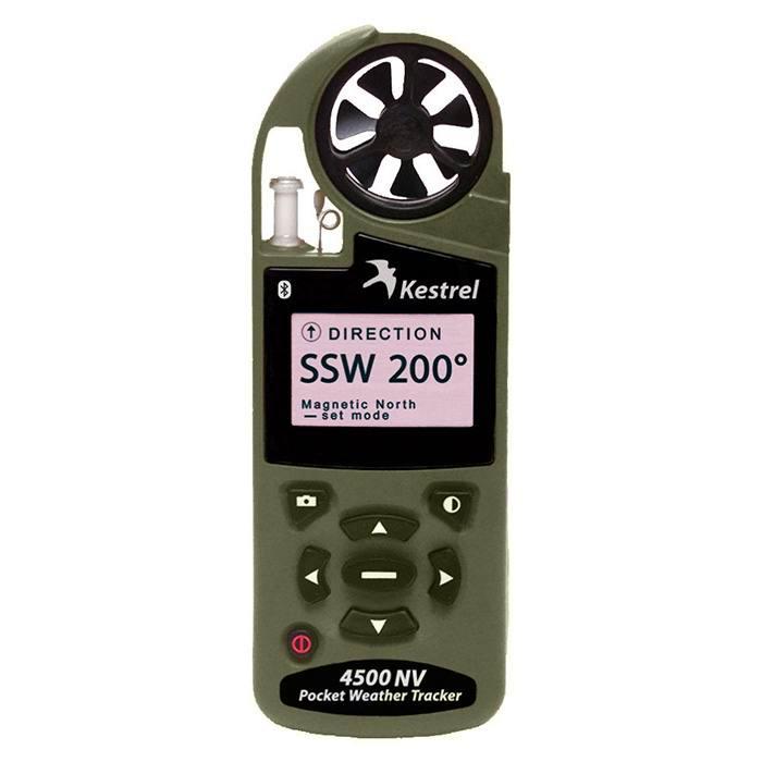 Ветромер Kestrel 4500 NVBT Olive (текущую, максимальную и среднюю скорость ветра, направление ветра, скорость бокового, встречного и попутного ветра) 0845BNVOLV