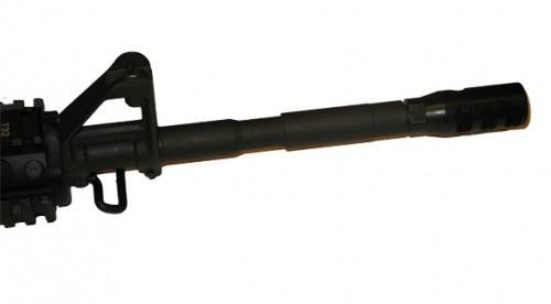 Дульный тормоз компенсатор (ДТК) ME для AR15/M16/M4, с посадочной резьбой 1/2»-28, с гайкой фиксатором, 450010
