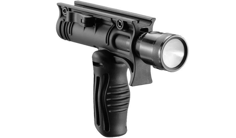 Рукоятка тактическая с креплением для фонаря с наружным диаметром 30мм, складная FAB Defense FFA-T4