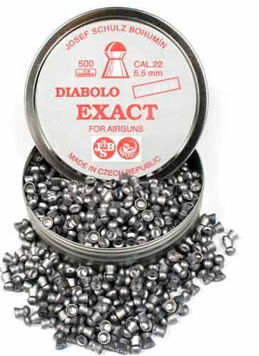 Пульки к пневматике JSB Diabolo Exact Jumbo 5.5 мм (.22), вес 1,030г, банка 500 шт