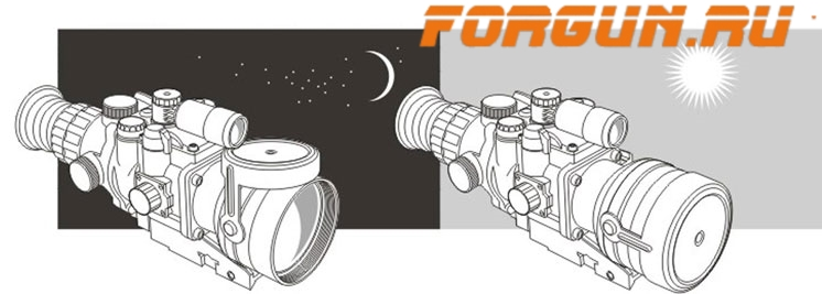 Прицел ночного видения (2+) Pulsar Phantom 4x60 MD FX, 76168T