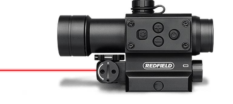 Коллиматорный прицел  Redfield CounterStrike с лазерным целеуказателем, под Picatinny/MIL-STD-1913,  красная/зеленая марка (4 MOA)
