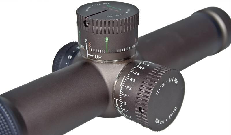 Оптический прицел Vortex Razor HD 1-4x24 FFP (EBR-556 MOA)