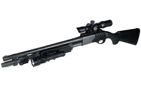 Кронштейн weaver на Ремингтон 870 и 11-87. UTG M87 Tactical Shotgun Mount (MNT-RM870A)