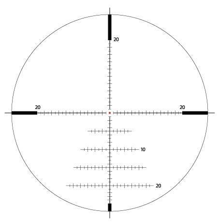 Оптический прицел IOR Valdada  Tactical  6-24x50 35mm  с подсветкой (MP-8   XTREME-X1 MOA)